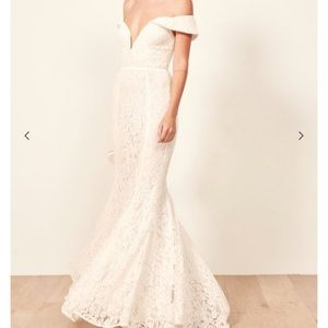 Reformation Dresses - Reformation Mykonos lace wedding gown